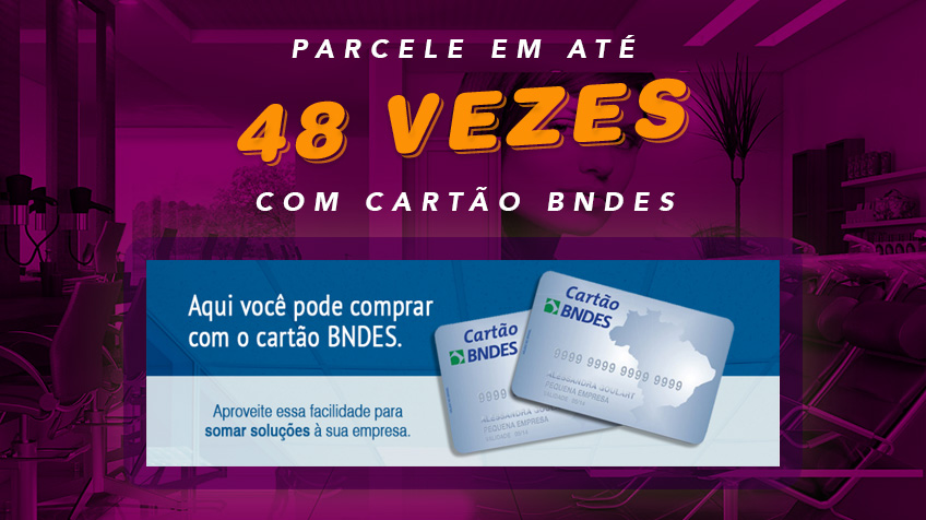 Parcele Móveis para Salão de Beleza em 48 vezes no Cartão BNDES